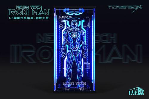 1 6 Scale TOYS-BOX Hangar 4.0 Tron Edition Box Case Model F Iron Man MK4 Figura