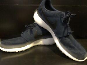 One hombre de Nike Navy Midnight blanco running Roshe negro Zapatillas para 12 talla HnvxAIaWI