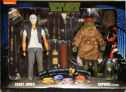 NECA Teenage Mutant Ninja Turtles-Casey Jones et Raphael déguisé Set WALMART EXCLUSIVE Nouveau