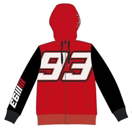 MM93 Marc Marquez 1571 Hoodie Motorcycle Hoody Official Red Black SRP £65 J/&S