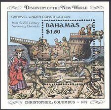 Bahamas 1989 Columbus 500th/Ships/Exploration/Explorers/Transport 1v m/s (b9133)