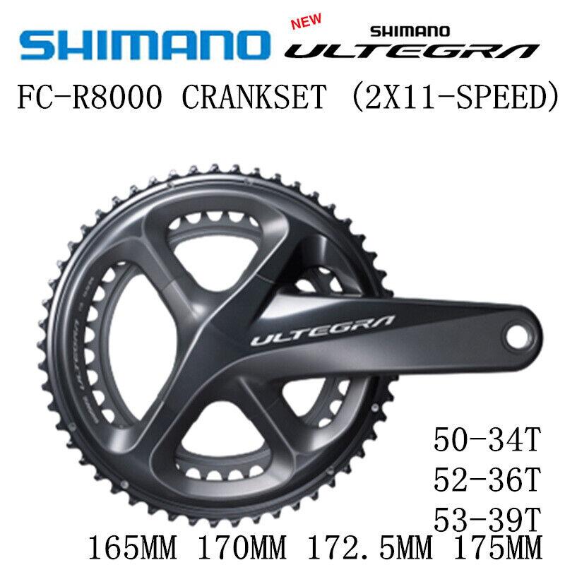 SHIMANO ULTEGRA FC R8000 Crankset 5034T 5236T 5339T 165MM 170MM 172.5MM 175MM