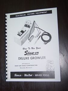 snap on mt 326 growler armature tester manual ebay rh ebay com Light Switch Wiring Diagram Simple Wiring Diagrams