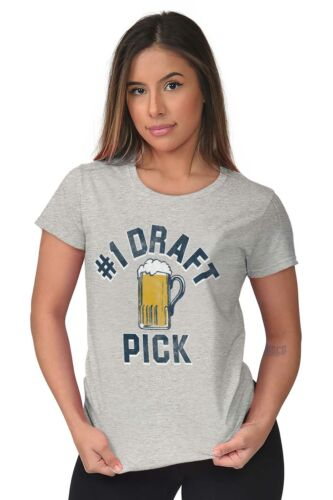 Number 1 Draft Pick Beer Drinking Sports Gift Womens Short Sleeve Ladies T Shirt