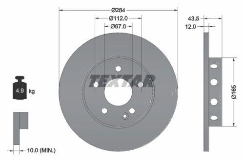 Textar Bremsscheiben Beläge Vorne MERCEDES C-KLASSE W202 Limo