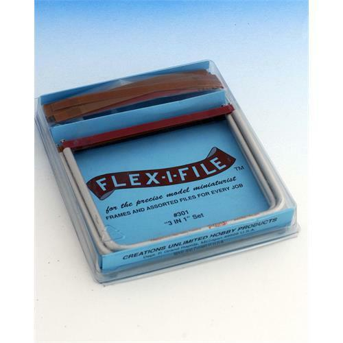 Abrasive Tapes for Miniature Model Making FLEXI-I-FILE 3 x  Aluminum Frames