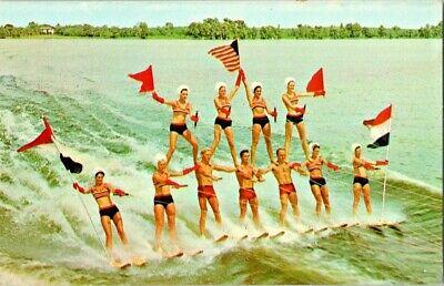Florida Memory • Pyramid of water skiers performing at the