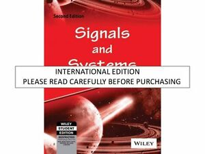 Details about Signals and Systems, 2nd ed  by Simon Haykin & Barry Van Veen