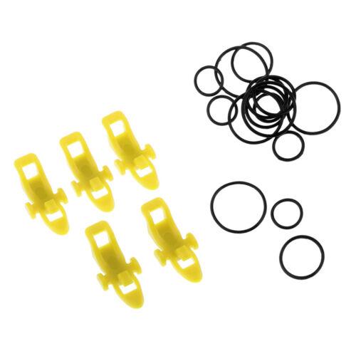 5 pezzi di canna da pesca in plastica Easy Hook Keeper Holder Rod clip