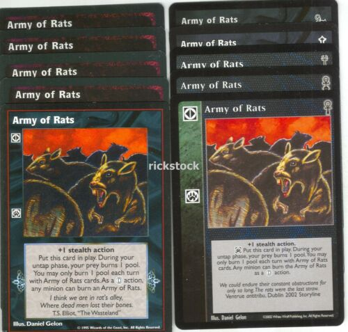Army of Rats x10 Jyhad AE CE FN VTES SW LoB