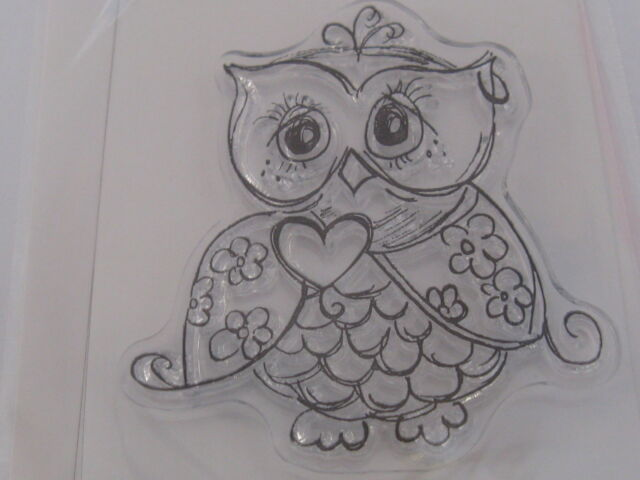 KAISERCRAFT ORNATE  OWL GORGEOUS  CLEAR STAMP, L@@K