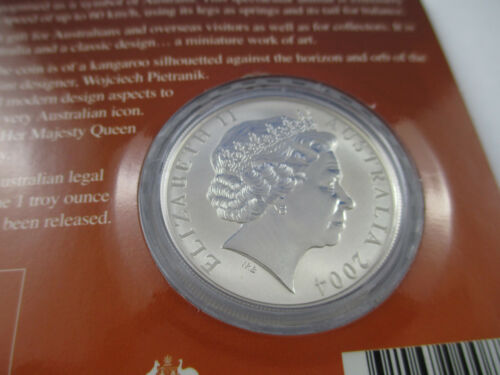 COMPLETE!!! 2004 RAM SILVER FROSTED UNCIRCULATED COIN SILVER KANGAROO $1