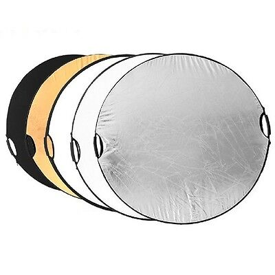 "Hand held 110cm 43"" 5 in 1 Light Multi Collapsible Photo Reflector Board Disc"