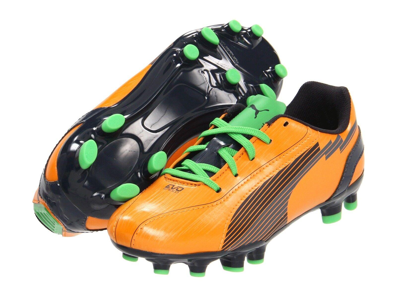Puma eVoSpeed 5 FG Soccer Schuhes Orange / Grün Kids Youth Jr Brand New