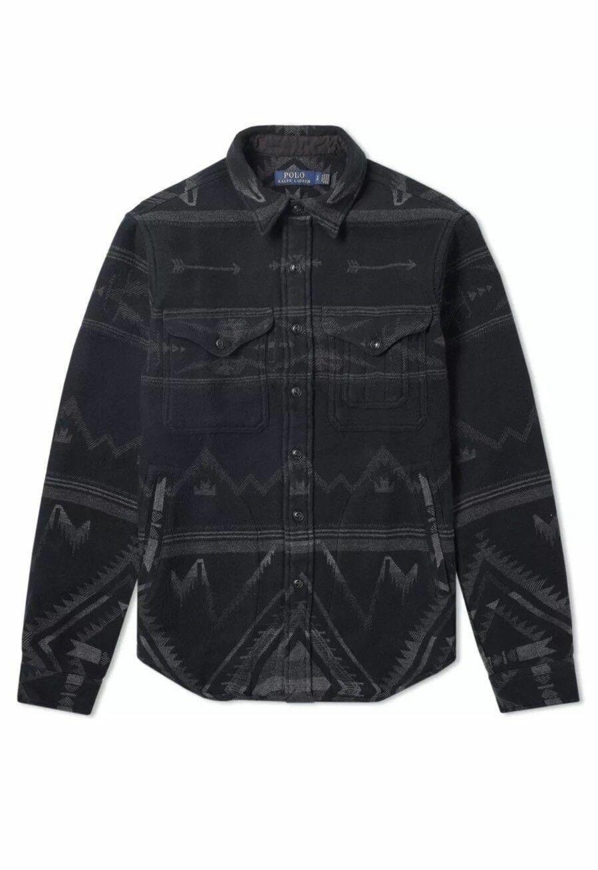 Ralph Lauren Polo Grey Southwestern Beacon Flannel Shirt Overshirt New