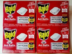 16-Raid-Ant-Baits-House-and-Yard-Child-Resistant-Traps-4-Boxes-Kills-The-Colony