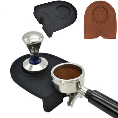 Silicone Coffee Tamper Mats Espresso Latte Tamper Tamping Rest Holder Pad Round