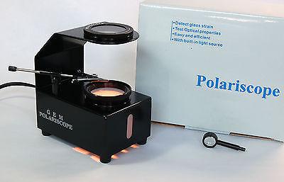 Gem Table Top Polariscope with gem clip!  *NEW*  black