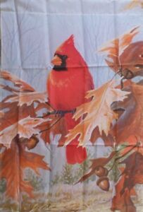 Cardinal-and-Oak-Leaves-Standard-House-Flag-by-Evergreen-Colorfast-3848