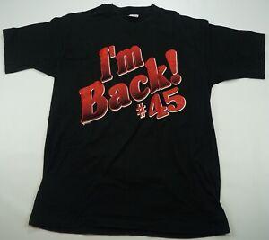 bbdcd015671 Rare Vintage Michael Jordan Chicago Bulls I'm Back #45 1995 Return T ...