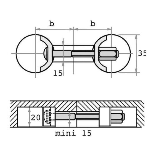 LOT DE 4 RACCORDS DE PLAN DE TRAVAIL AVB 5 Ferrure assemblage de meuble