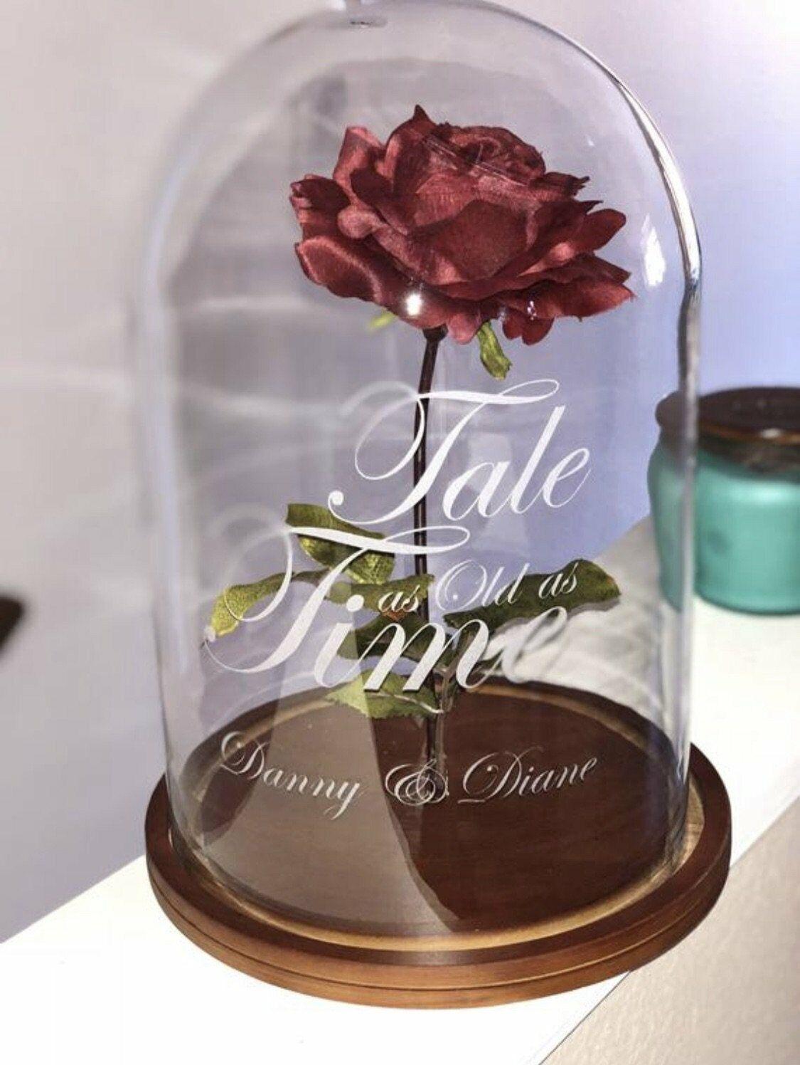 Personnalisé forever rose Bell Jar par mariage Jetons
