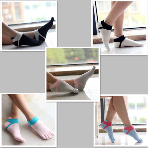 5 Pairs Women Cotton Toe Socks Five Finger Socks Breathable Sports Ankle Low Cut