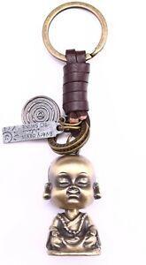 AuPra-Buddha-Keyring-Leather-Vintage-Keychain-Key-Ring-Pendant-Gifts