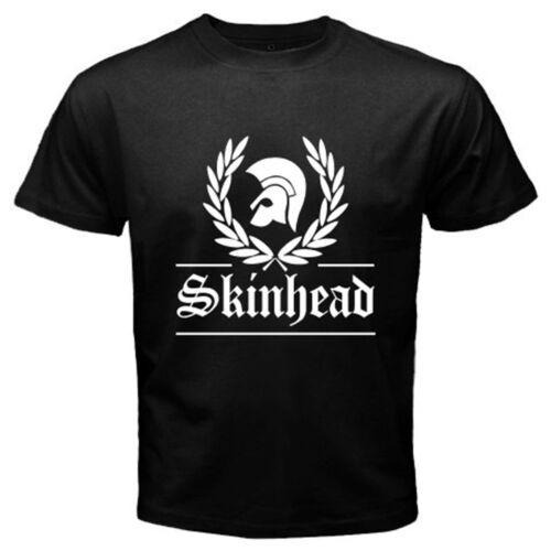 New Skinhead Society Punk Rock Band Logo Men/'s Black T-Shirt Size S-3XL