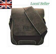 Brand New Leather Polo Men's Crossbody Shoulder Messenger Bag Handbag free P&P