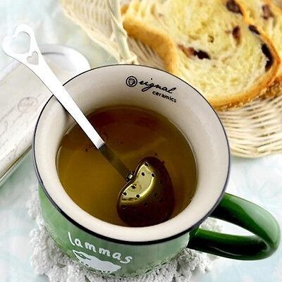 Heart Shape Stainless Steel Tea Infuser Spoon Strainer Steeper Handle Sho NoIAT6