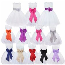b755f61c7 Sweet Heart Rose Infant Girls White Satin Party Holiday Dress With ...