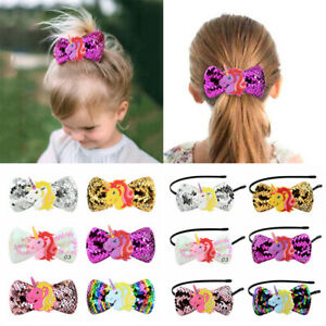 Kids-Girls-Sequin-Hair-Clip-Headband-Hairpin-Bowknot-Hair-Bands-Accessories