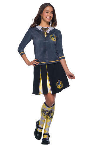 Hufflepuff Top Ladies Fancy Dress Harry Potter Adults Book Day Costume Shirt