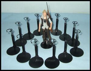 12-Action-Figure-DISPLAY-STANDS-fit-5-5-Walking-Dead-6-034-STAR-WARS-BLACK