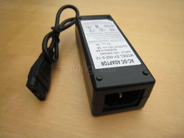 HDD POWER SUPPLY AC 12V+5V 2A  FOR HARD DRIVE MOLEX UK