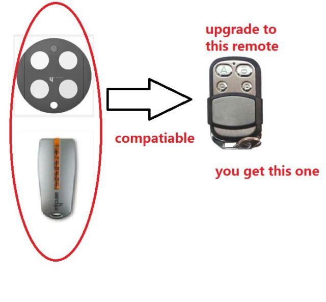 4 X mhouse myhouse compatible garage door remote control TX4 TX3 GTX4 433.92mhz