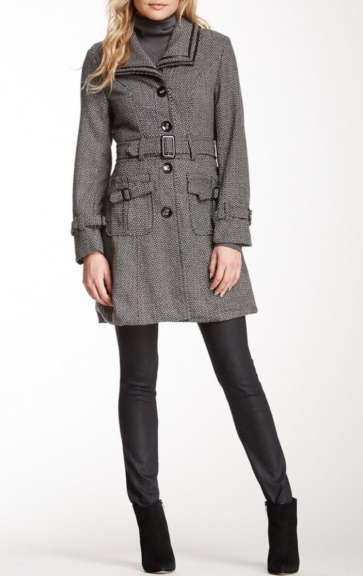 Papillon Belted Wool Blend Coat