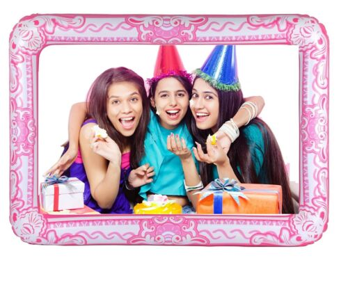 PINK GIANT INFLATABLE PHOTO FRAME Selfie Booth Props Blow Up Hen Party 60x80 cm