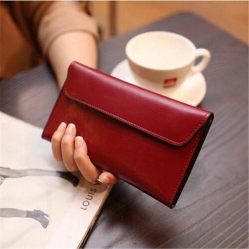 Women Wallet Genuine Leather Long Magnetic Buckle Female Purse Clutch Wallets