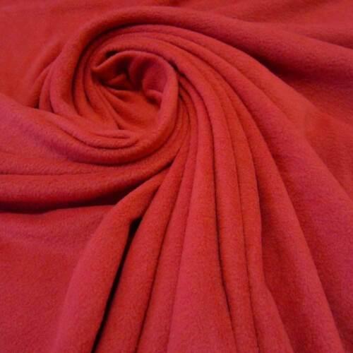 Stoff Meterware Fleece antipilling weich knitterfrei rot kirschrot Polarfleece