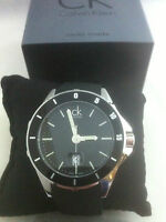 Calvin Klein Play Watch K2w21xd1 Black Dial Genuine Swiss Quartz