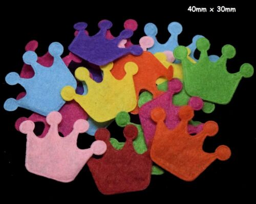 BU1291 Die Cut Felt Shapes 15 Designs Card Making Crafts Flower Heart