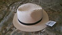 White Fedora Hat Unisex Casual Fedora Cap Hat White With Black Ribbon Fedora S/m