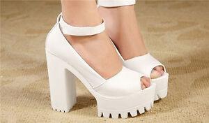 Women-Pumps-Platform-Strappy-Buckle-Stiletto-High-Heels-Sandals-Shoes-Hot-Sale