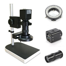 16mp 1080p Hdmi Industrial Video Microscope Camera With180x C Mount Lens Led 60fps