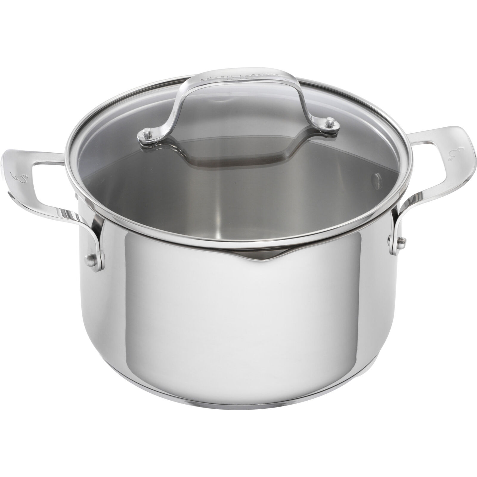 Emeril Lagasse 5 Qt. Stainless Steel Round Dutch Oven Set of 2