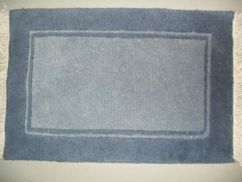 41x61 cm Bordered small modern border blue thick wool door small mat rug