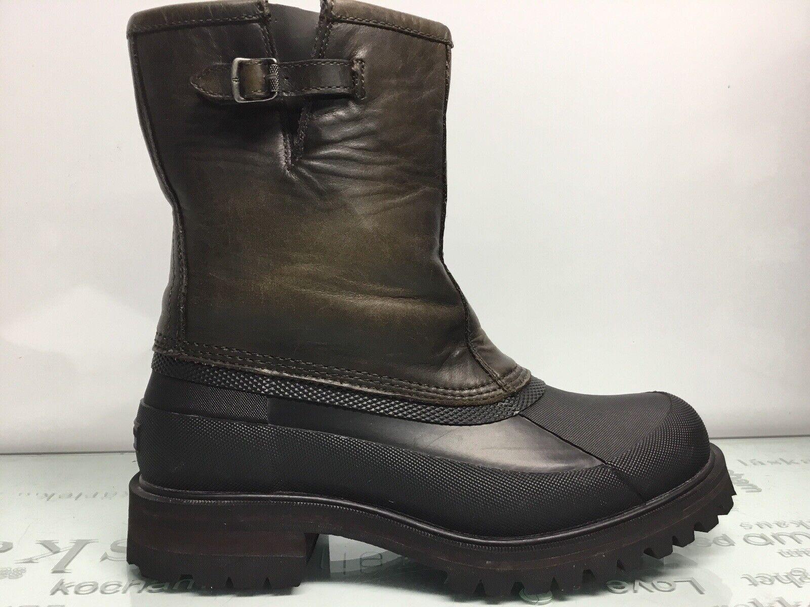 Frye Alaska tirar para hombre 3486162-STC Piedra Cuero Impermeable botas