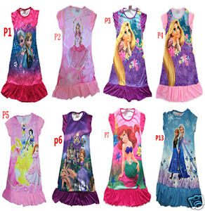 Disney-Princess-Party-Nighty-Dress-PJ-for-girl-3-7-Yrs
